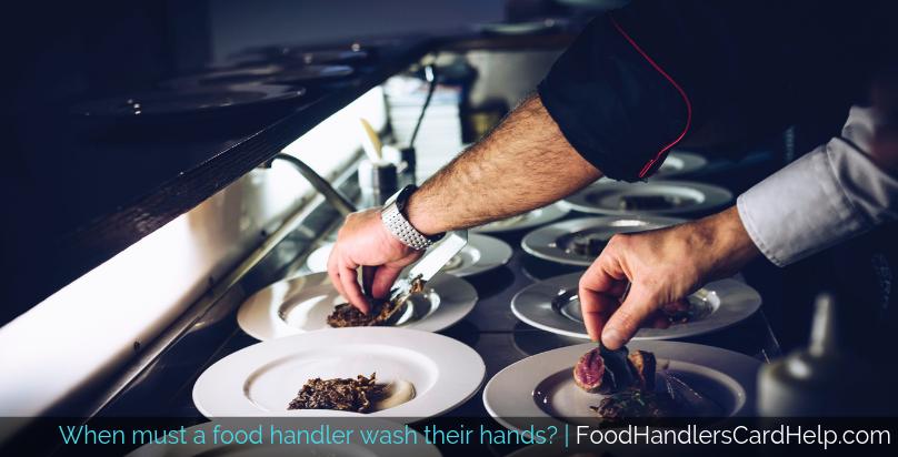food handler washing hands